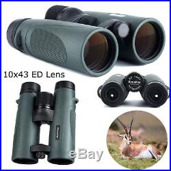 Eyeskey Outdoor Travel ED10x43 21mm Ey Day Night Vision Binoculars Telescope+Bag