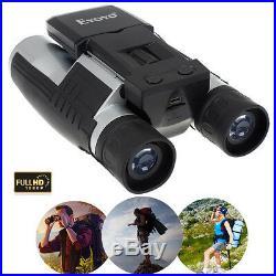 FS608 1080P Digital Video Photo Record Camera Binoculars Telescope 12X Zoom Lens