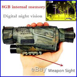 HD 5X40 Digital Infrared Night Vision Monocular Hunting Video Telescope IR Scope