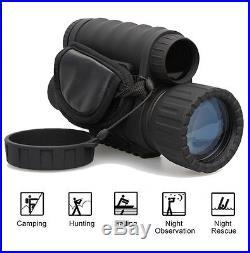 HD 720P 5MP WG-50 IR Infrared Night Vision Monocular Telescope 6X50 Camera A01 G