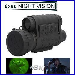 HD 720P 5MP WG-50 Infrared Night Vision NVD IR Monocular Telescope 6X50 Record