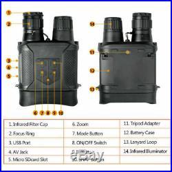 HD Digital Night Vision CAMERA Infrared Hunting Binoculars Scope IR Video Zoom