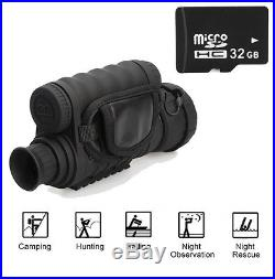 HD WG-50 Infrared Night Vision IR Monocular Telescope 6x50 Zoom Binoculars +32GB