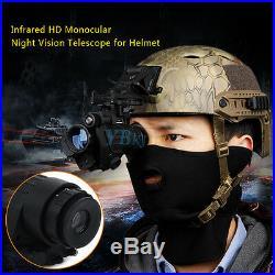 Helmet Goggle Waterproof Infrared IR Monocular Night Vision HD Telescope Device