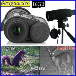 High Power 6X50mm Night Vision Scope Monocular IR Telescope Goggles + 16GB Card