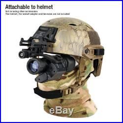 Hunt Infrared IR Monocular Night Vision Scope 2X LED Binoculars Helmet Telescope