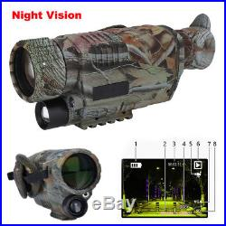 Hunting 5x40 Infrared IR Night Vision Camera Monocular Scope Video Recorder CR