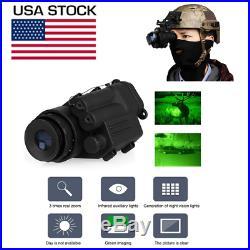 Hunting Infrared HD Digital IR Monocular Night Vision Telescope For Helmet LA