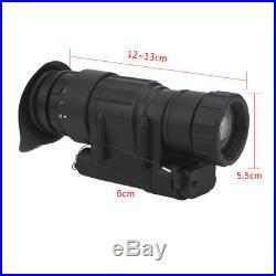 Hunting Infrared HD Digital IR Monocular Night Vision Telescope For Helmet US