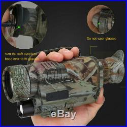Infrared 5X40 IR Dark Night Vision Monocular Binoculars Scope Telescopes Hu L3H9