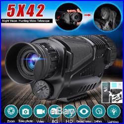 Infrared Dark Night Vision 5X42 Monocular Binoculars Telescopes Scope Hunting