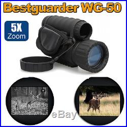 Infrared Dark Night Vision 6X50 IR Monocular Binoculars Telescopes Scope DVR