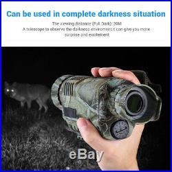 Infrared IR Night Vision 5X40 Digital Scope Monocular Telescope Hunting Camping