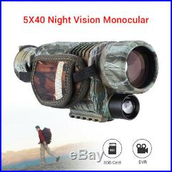 Infrared Night Vision 5X40 Monocular Binoculars Telescopes f. Hunting Bird Watch