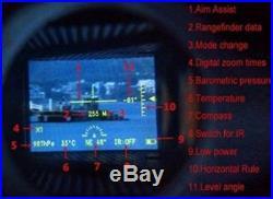 LaserWorks Day And Night Multifunction Laser Rangefinder Night Vision (Black)