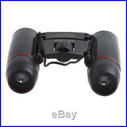 Mini 30X60 Zoom Binoculars Telescopes Folding Day Night Vision With Bag Black