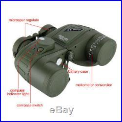 Mititary Night Vision 10x50 HD Binoculars Rangefinder Compass Telescope Sports