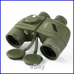 Mititary Night Vision 10x50 HD Binoculars Rangefinder Compass Telescope Tactics