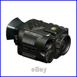 Monocular Night Vision Infrared Scope 2200mAh for Hunting Telescope (P4 Black)