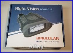 NV400-B Night Vision 7x31 Zoom Binocular Sighting IR with Record to Flash Drive