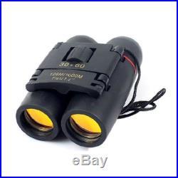 New Binoculars 30x60 Zoom Folding Telescope with Coated Optics Night Vision