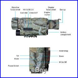 Night Vision 5X40 Monocular Binoculars Multi-Function IR Digital Telescope