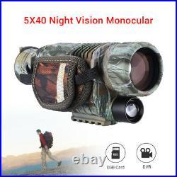 Night Vision Cam Goggles Monocular IR Surveillance Gen Hunting Scope Free 8GB 1x