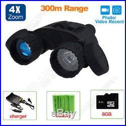 Night Vision Goggles Binocular IR Surveillance Camera Gen DVR 5MP HD720P Zoom