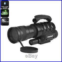 Night Vision Monocular 7x Zoom, 1000m Detection Range, Rain Water, Hunting, RONG