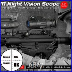 Night Vision Monocular Binocular IR Hunting Trail Rifle Scope Telescope +Helment