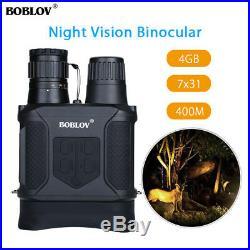 Night Vision Monocular Binoculars Digital Infrared IR 7x31 400M Hunting Scope HD