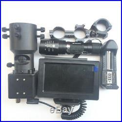 Night Vision Rifle Scope Hunting Gun Riflescope 4.3'' LCD Monitor IR Laser Torch