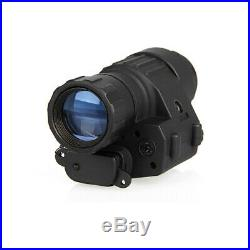 Night Vision Scope Monocular Tactical IR Infrared Hunting Telescope HD With LED