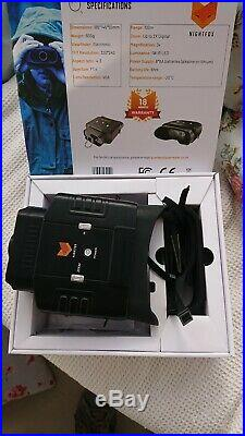 Nightfox 100V 3x20 Zoom Widescreen Digital Night Vision Infrared Binocular Bl