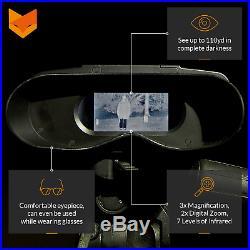Nightfox 100V Widescreen Digital Night Vision Infrared Binocular with Zoom 3x20