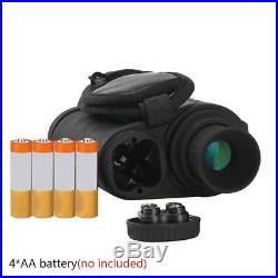 PDE Night Vision Monocular Wildlife 6X50 5MP HD Camera Infrared Telescope Black