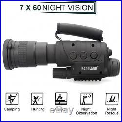 Rongland 7x60 NV-760D+ Infrared Night Vision IR Monocular Telescopes 400M Huntin