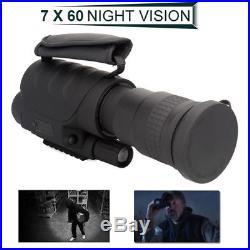 Rongland NV-760D+ Infrared Night Vision 700M IR Monocular Telescopes 7x60 DVR E1