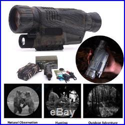 Scope Hunting Infrared Dark Night Vision 5X40 Monocular Binoculars Telescopes