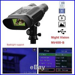 USB AV/TV IR Night Vision 3X Binocular Telescope HD Camera Photo Video Recording