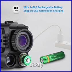 Ultra Small 8GB 1-5X18 Multi-Purpose Night Vision Monocular Wildlife Riflescope