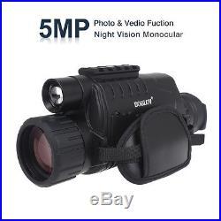 WG-37 5X40 Digital IR Night Vision Monocular 200m Range For Hunting Camping Hiki
