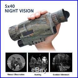 WG-37 Digital IR Monocular Night Vision 1.44 LCD 5x40 Zoom Scope Video Recorder