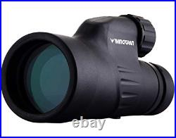 Wingspan Optics Explorer High Powered 12X50 Monocular. Bright and Clear. Sing